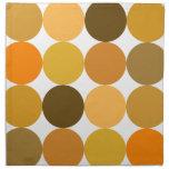 Big Orange Polka Dots Cloth Napkins