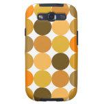 Big Orange Polka Dots Galaxy S3 Covers