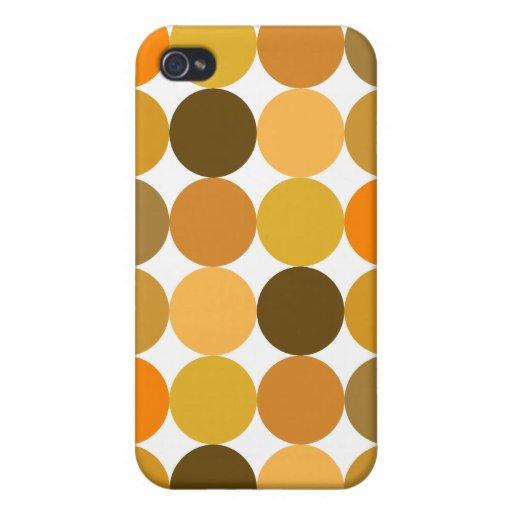 Big Orange Polka Dots iPhone 4 Case