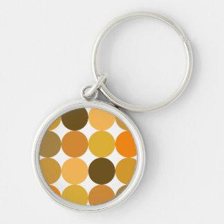 Big Orange Polka Dots Key Chains