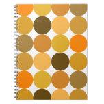 Big Orange Polka Dots Notebook