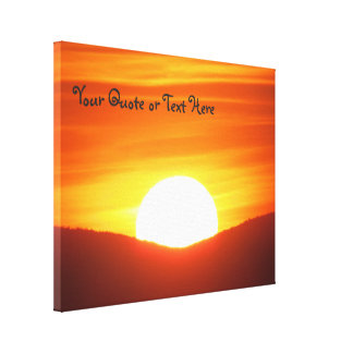 Big Orange Sunset Canvas Print