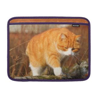 Big Orange Tom Cat on the Prowl Sleeve For MacBook Air