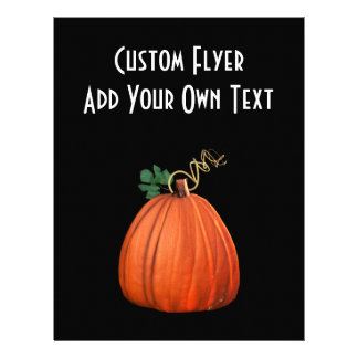 Big Orange Whimsical Pumpkin Flyer