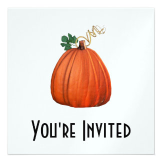 Big Orange Whimsical Pumpkin Personalized Invitations