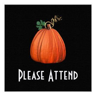 Big Orange Whimsical Pumpkin Invite