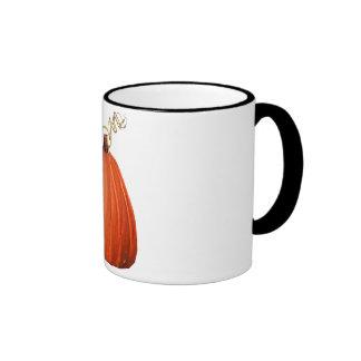 Big Orange Whimsical Pumpkin Mugs