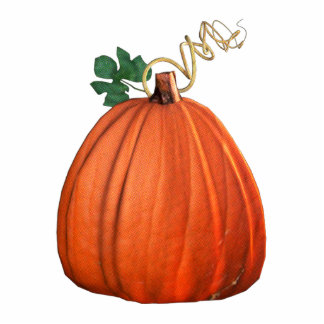 Big Orange Whimsical Pumpkin Cut Out