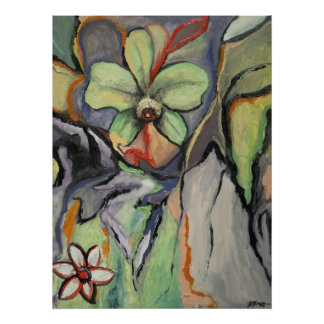 Big Orchid Little Daisy Poster