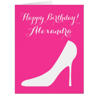 Big oversized Birthday card for women and girls