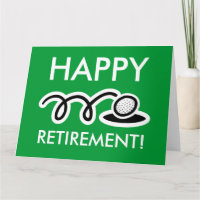Big oversized retirement card for golf enthusiasts