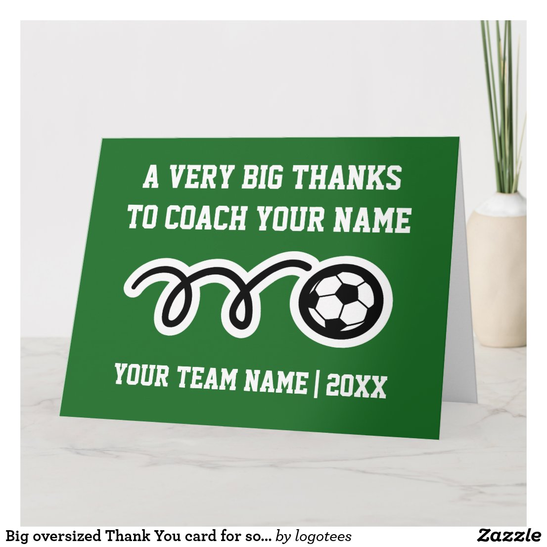soccer coach thank you card