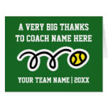 Big oversized Thank You card for tennis coach