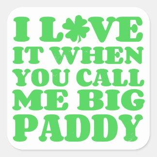 Big Paddy Square Sticker