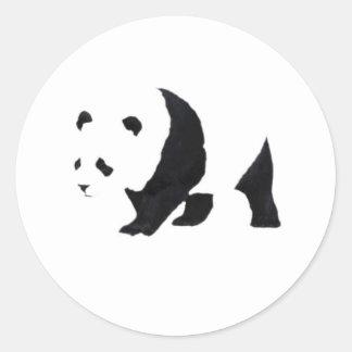 Big panda bear classic round sticker