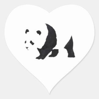 Big panda bear heart sticker