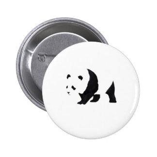 Big panda bear pinback button