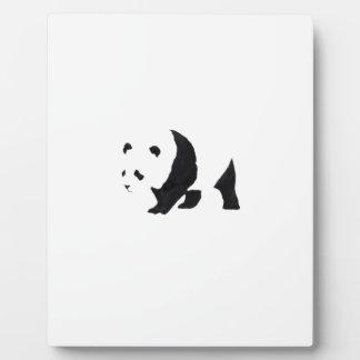 Big panda bear plaque