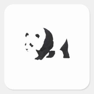 Big panda bear square sticker