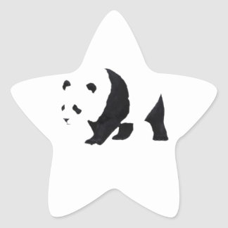 Big panda bear star sticker