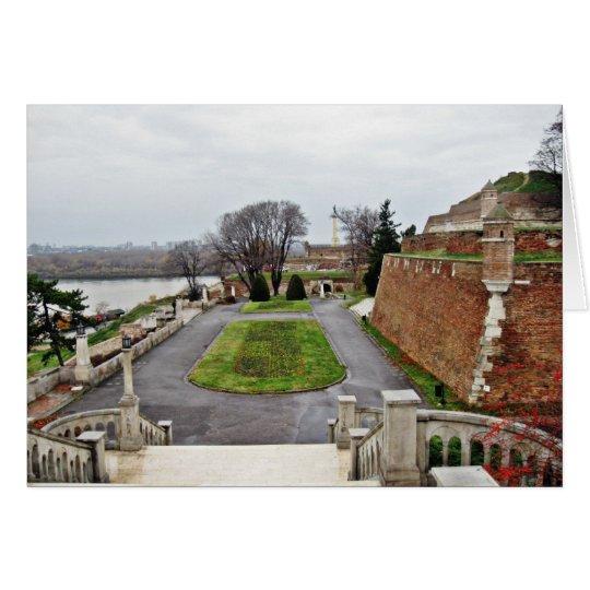 Big Park Kalemegdan By Danube River Serbia Card