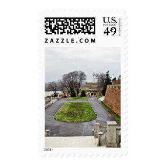 Big Park Kalemegdan By Danube River Serbia Postage Stamps
