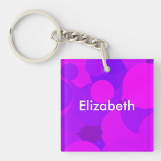 Big Party Girl Double-Sided Square Acrylic Keychain