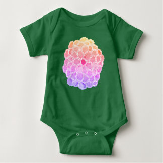 Big Pastel Painted Flower Baby Bodysuit
