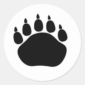 Big paw white sticker