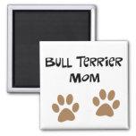 Big Pawprints Bull Terrier Mom Refrigerator Magnets