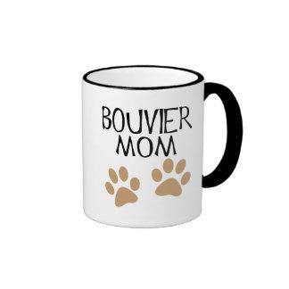 Big Paws Bouvier Mom Ringer Mug