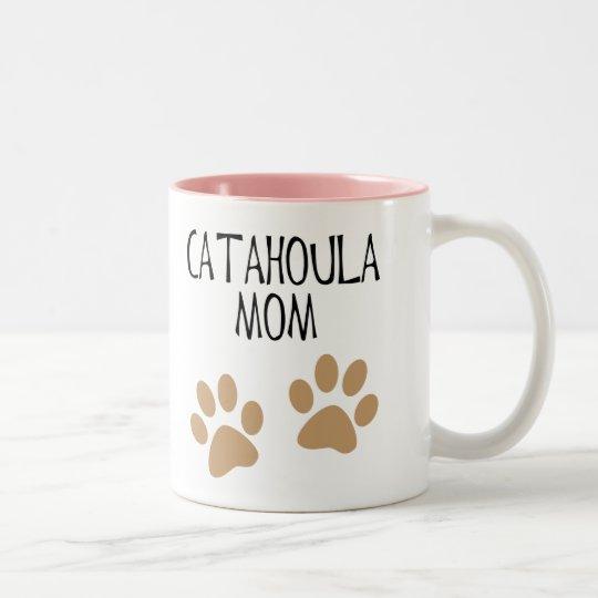 Big Paws Catahoula Mom Two-Tone Coffee Mug