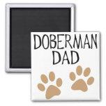 Big Paws Doberman Dad 2 Inch Square Magnet