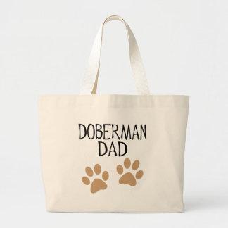 Big Paws Doberman Dad Large Tote Bag