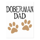 Big Paws Doberman Dad Postcard