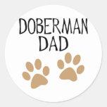 Big Paws Doberman Dad Stickers