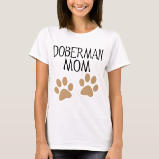 Big Paws Doberman Mom T-Shirt