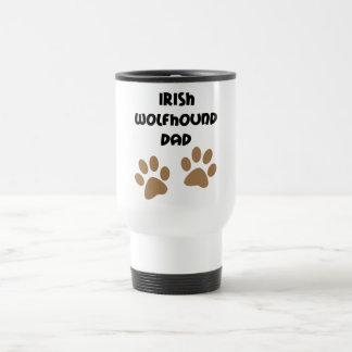 Big Paws Irish Wolfhound Dad Coffee Mug