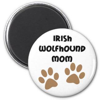 Big Paws Irish Wolfhound Mom 2 Inch Round Magnet