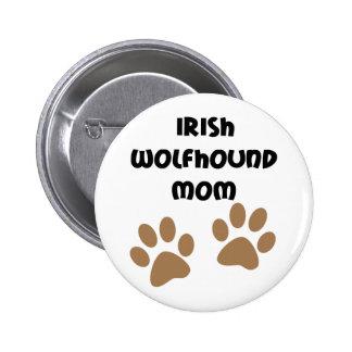 Big Paws Irish Wolfhound Mom Pinback Button