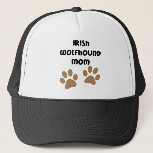 Big Paws Irish Wolfhound Mom Trucker Hat