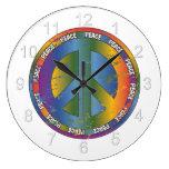 Big Peace Symbol Round Wall Clock