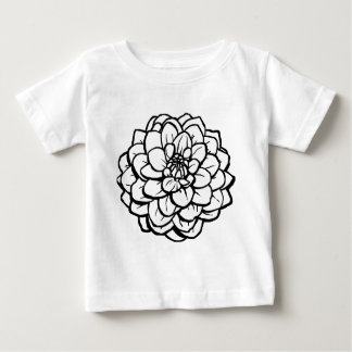 Big Pen and Ink Dahlia - Black on White Baby T-Shirt