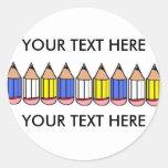 Big Pencil Back To School Classic Round Sticker