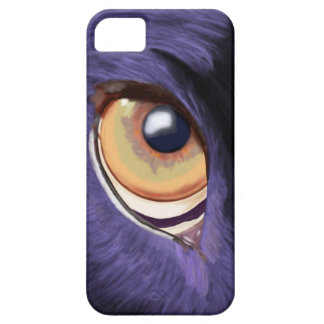 Big Penetrating Orange Eye on Blue Fur iPhone SE/5/5s Case