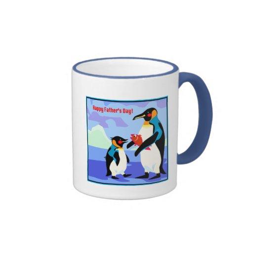 Big Penguin Ringer Coffee Mug