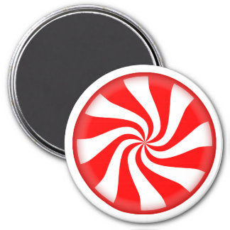 Big Peppermint Candy 3 Inch Round Magnet