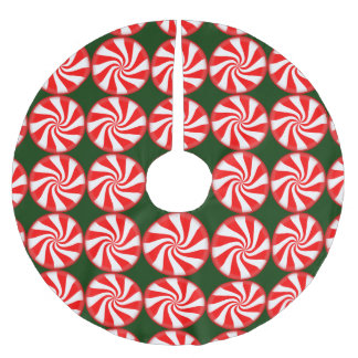 Big Peppermint Candy Brushed Polyester Tree Skirt