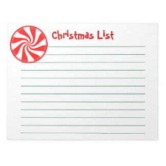 Big Peppermint Candy Customizable Memo Note Pad