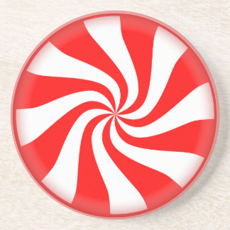 Big Peppermint Candy Drink Coaster
